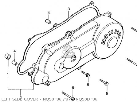 Honda Nq50d 1986 Spree Special Usa Left Side Cover - Nq50 86  87 - Nq50d 86