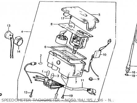 Honda Nq50d Spree Special 1986 g Usa Speedometer Tachometer - Nq50 84  85   86 - Nq50d 86
