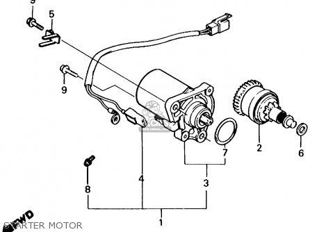 Honda Nq50d Spree Special 1986 g Usa Starter Motor
