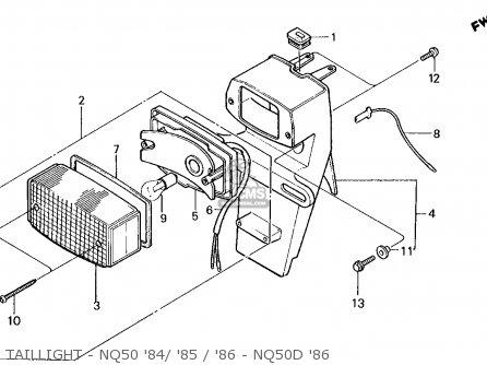 Honda Nq50d Spree Special 1986 g Usa Taillight - Nq50 84  85   86 - Nq50d 86