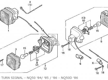 Honda Nq50d Spree Special 1986 g Usa Turn Signal - Nq50 84  85   86 - Nq50d 86