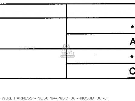 Honda Nq50d Spree Special 1986 g Usa Wire Harness - Nq50 84  85   86 - Nq50d 86 - Chart