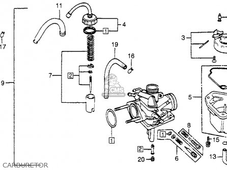 Honda Nu50 Urban Express 1983 d Usa Carburetor