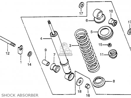 Honda Nu50 Urban Express 1983 d Usa Shock Absorber