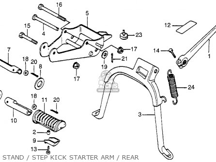 Honda Nu50 Urban Express 1983 d Usa Stand   Step Kick Starter Arm   Rear