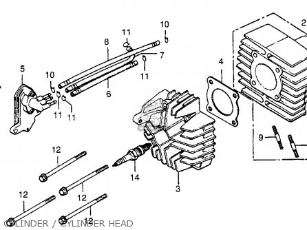 Honda Nu50 Urban Express 1983 Usa Cylinder   Cylinder Head