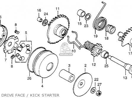 Honda Nu50 Urban Express 1983 Usa Drive Face   Kick Starter
