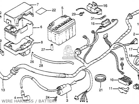 Honda Nu50 Urban Express 1983 Usa Wire Harness   Battery