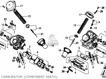 Honda Nv400c Steed 1995 s Singapore Kph Carburetor component Parts