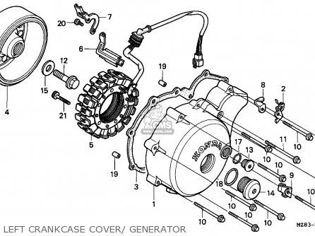 Honda Nv400c Steed 1995 s Singapore Kph Left Crankcase Cover  Generator