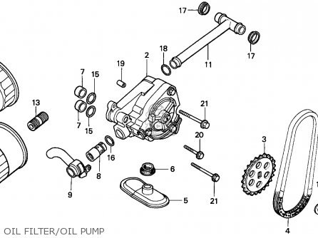 Honda Nv400c Steed 1995 s Singapore Kph Oil Filter oil Pump