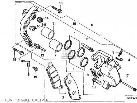 Honda Nv400c Steed 1995 s Singapore   Kph Front Brake Caliper