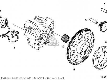 Honda Nv400c Steed 1995 s Singapore   Kph Pulse Generator  Starting Clutch