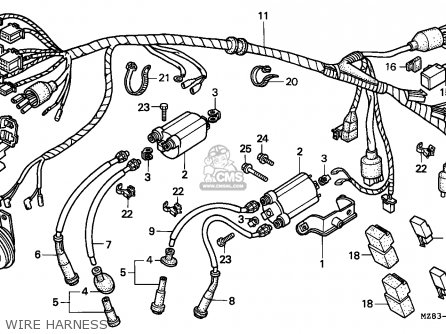 Honda Nv400c Steed 1995 s Singapore   Kph Wire Harness