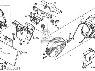 honda nv750c2 shadow 1999 x korea kph mk parts lists and schematics Honda 50Cc taillight