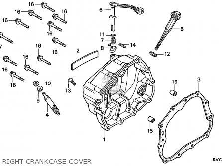 honda nx125 transcity 1989 (k) italy right crankcase cover