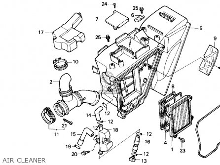 Honda Nx250 1989 k Usa Air Cleaner