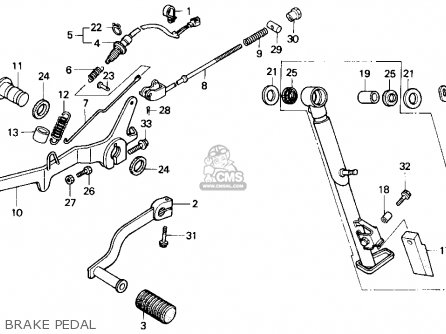 Honda Nx250 1989 k Usa Brake Pedal