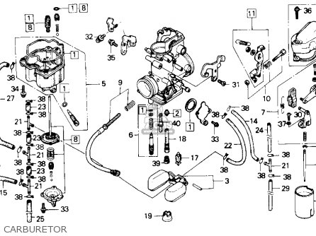 Honda Nx250 1989 k Usa California Carburetor