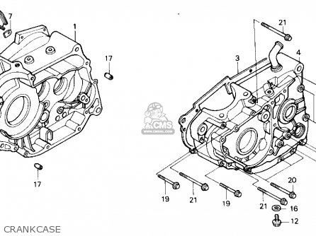 Honda Nx250 1989 k Usa California Crankcase