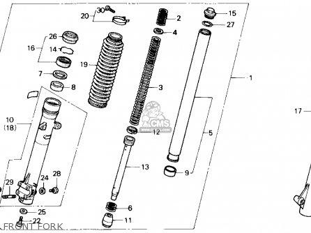 Honda Nx250 1989 k Usa California Front Fork