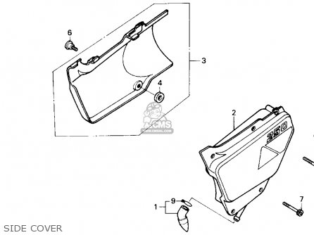 Honda Nx250 1989 k Usa California Side Cover