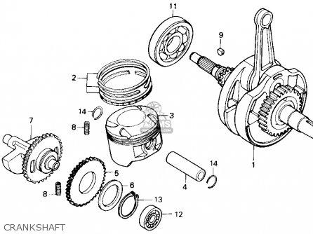 Honda Nx250 1989 k Usa Crankshaft