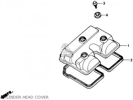 Honda Nx250 1989 k Usa Cylinder Head Cover