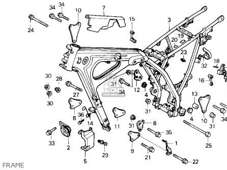 Honda Nx250 1989 k Usa Frame