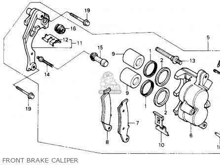 Honda Nx250 1989 k Usa Front Brake Caliper