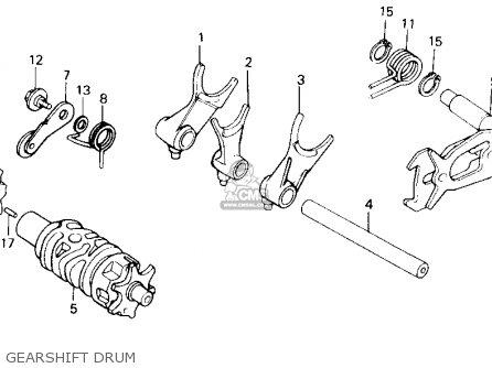 Honda Nx250 1989 k Usa Gearshift Drum