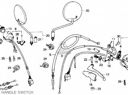 Honda Nx250 1989 k Usa Handle Switch