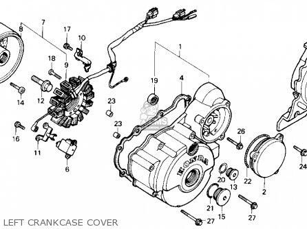 Honda Nx250 1989 k Usa Left Crankcase Cover