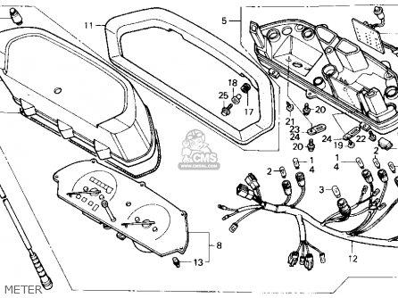 Honda Nx250 1989 k Usa Meter