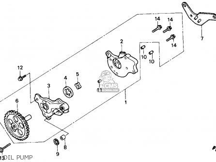 Honda Nx250 1989 k Usa Oil Pump