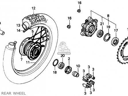 Honda Nx250 1989 k Usa Rear Wheel