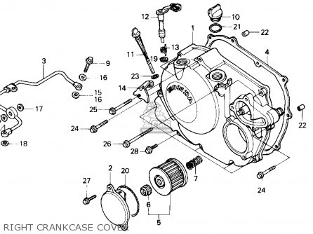 Honda Nx250 1989 k Usa Right Crankcase Cover