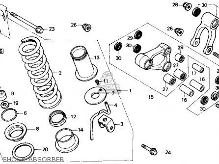 Honda Nx250 1989 k Usa Shock Absorber