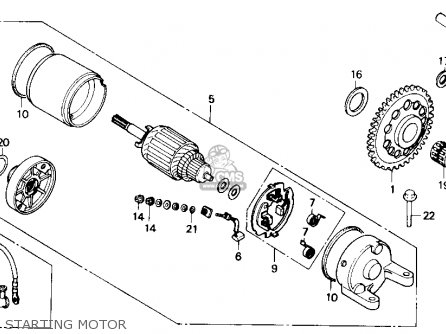 Honda Nx250 1989 k Usa Starting Motor