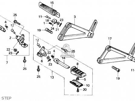 Honda Nx250 1989 k Usa Step