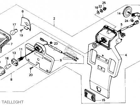 Honda Nx250 1989 k Usa Taillight