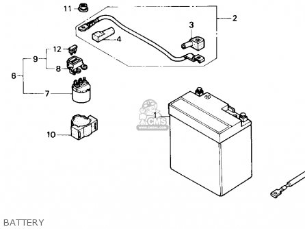 Honda Nx250 1989 Usa Battery