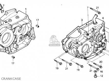 Honda Nx250 1989 Usa Crankcase