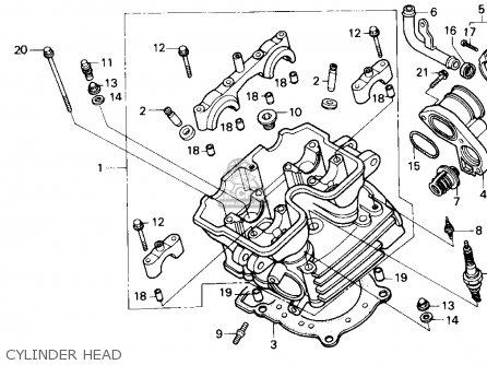 Honda Nx250 1989 Usa Cylinder Head