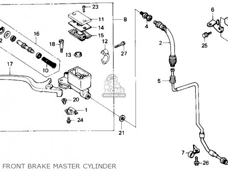 Honda Nx250 1989 Usa Front Brake Master Cylinder