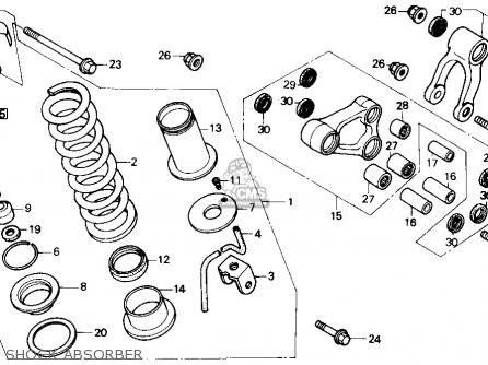 Honda Nx250 1989 Usa Shock Absorber