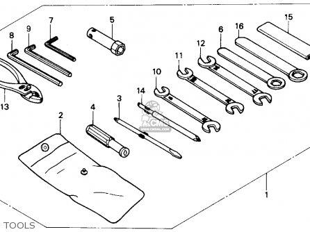 Honda Nx250 1989 Usa Tools