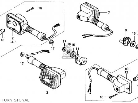 Honda Nx250 1989 Usa Turn Signal
