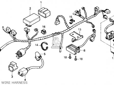 Honda Nx250 1989 Usa Wire Harness
