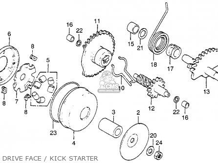 moped kick starter schematic honda nx50m express sr 1981  b  usa parts lists and schematics  honda nx50m express sr 1981  b  usa